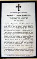 MEMORANDUM  SOUVENIR  MADAME FRANCIS ROBERT NEE TEISSEIRE  FAIRE PART DECES - Décès