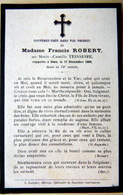 MEMORANDUM  SOUVENIR  MADAME FRANCIS ROBERT NEE TEISSEIRE  FAIRE PART DECES - Obituary Notices