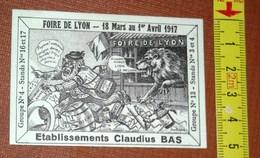 VIGNETTE FOIRE DE LYON 18 Mars Au 1er Avril 1917. Ets Claudius BAS. Jean Robert. - Erinnophilie
