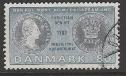 Denmark 1980 Coins On Stamps - From The Royal Danish Collection Of Coins 1.80 Kr Multicoloured SW 717 O Used - Denemarken