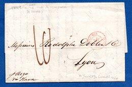 Lettre De New York -  Pour Lyon -- 9 Nov 1841 - 1801-1848: Voorlopers XIX