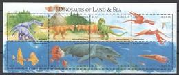 R751 LIBERIA FAUNA PREHISTORIC ANIMALS DINOSAURS OF LAND & SEA 1KB MNH - Prehistorics