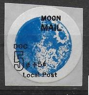 USA Moon Mail Local Post 5+5c - Space