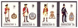GIBILTERRA - 1976 - UNIFORMI MILITARI. 8A SERIE.  SERIE COMPLETA. - MNH** - Gibraltar