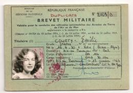 1963 DUPLICATA BREVET MILITAIRE AIX EN PROVENCE   B649 - Documents