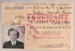 1952  CARTE D'IDENTITE MILITAIRE SOUS OFFICIER ARMEE DE L'AIR     B651 - Documents