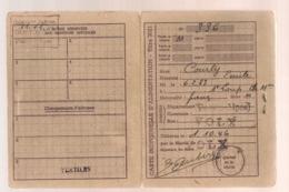 1946 CARTE INDIVIDUELLE D'ALIMENTATION  / VOLX BASSES ALPES   B653 - Documents Historiques