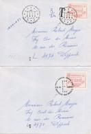 DI131a/b   Festivités Européennes (Belgique)  ATM Europhilex  1987  TTB  (2 Cachets Différents + 1 Lettre Taxée) - European Ideas