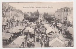 Nay, La Place Un Jour De Marché - France