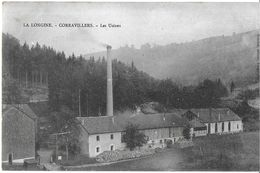 LA LONGINE-CORRAVILLERS 70 HAUTE-SAÔNE  LES USINES  MARQUE POSTALE VERSO OR   JCT&DG - Frankreich