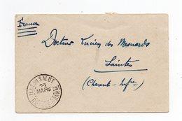 !!! PRIX FIXE : GUYANE, LETTRE DE 1913 POUR SAINTES, CACHET ILES DU SALUT (BLOC DATEUR ECHOPPE). TIMBRES AU DOS - Guyane Française (1886-1949)