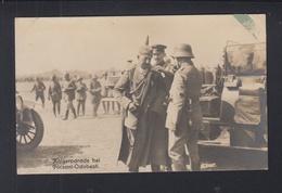 Romania PPC WWI Parade Focsani German Emperor - Romania