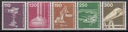 GERMANY Bundes 1134-1138,unused - Factories & Industries