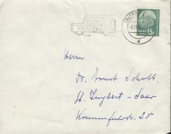 SAAR 415 EF Auf Brief Mit Stempel: Saarbrücken 3.11.1958 - 1957-59 Bundesland