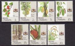 Malaysia Melaka 1986-96 Agricultural Products Set Of 7, MNH, SG 96/102 - Malaysia (1964-...)