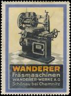 Reklamemarke: Wanderer Fräsmaschinen - Vignetten (Erinnophilie)