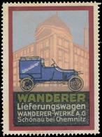 Reklamemarke: Wanderer Lieferungswagen - Vignetten (Erinnophilie)