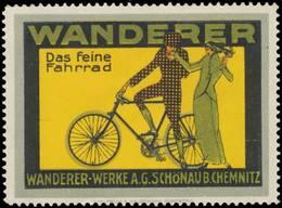 Reklamemarke: Wanderer Das Feine Fahrrad - Vignetten (Erinnophilie)