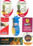Etiquettes De Fruits : Ananas Lot 26 - Fruit Labels Pineapple Lot # 26 - Fruits Et Légumes