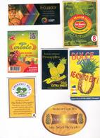 Etiquettes De Fruits : Ananas Lot 27 - Fruit Labels Pineapple Lot # 27 - Fruits Et Légumes
