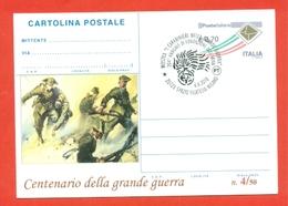 INTERI POSTALI-CARTOLINE POSTALI SOPRASTAMPA PRIVATA-CARABINIERI-MILANO-MILITARI-MOSTRE-CENTENARIO GRANDE GUERRA - 6. 1946-.. Repubblica