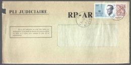 Cob 1903 (coupé) Chiffre Sur Lion+2137 Type Velghe Grand Format Sur Lettre Recommandé Pli Judiciaire RP-AR NAMUR - Cartas