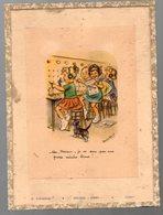 """Jussey (70 Haute Saône) épicerie Codec : Gravure Sous Verre: Germaine Bouret """"non Monsieur Je Ne Suis Pas.""""..  (CAT1268) - Old Paper"""