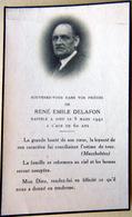 MEMORANDUM  SOUVENIR  RENE EMILE DELAFON   FAIRE PART DECES - Décès