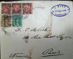 O) 1907 CHILE, PEDRO DE VALDIVIA SCT 67 12 C On 5c -SURCHARGE OVERPRINTE-TELEGRAPH, COLUMBUC SCT 70 3c - SCT 68 1c, FROM - Chile