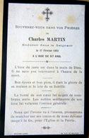 MEMORANDUM  SOUVENIR  CHARLES MARTIN FAIRE PART DECES - Obituary Notices