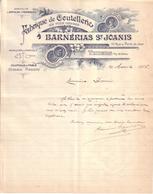 PUY DE DÔME - THIERS - FABRIQUE DE COUTELLERIE , CISEAUX , RASOIRS - BARNERIAS ST JOANIS - 1906 - France