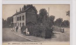 CPA  ABBEVILLE La Gare De La Porte Du Bois-landau Ancien-enfants-animée - Abbeville