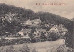 CPA (  Slovenie) CILLI Sannegg Und Kapuzinerkirche (b .bur) - Slovénie