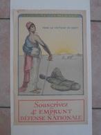 89Db  Affiche Sté Generale Souscrivez 4eme Emprunt Defense Nationale Malherbe 1918 Casque Pointu Mariane - Posters
