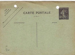 Carte 236 CP2, Date 820, 146 X 103mm,  Non Utilisée Mais Perforée Pour Classement - Entiers Postaux