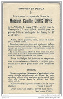 ATTERT ..-- Mr Camille CHRISTOPHE , Né En 1924 , Fusillé Par Les SS à FRISOR En 1945 . - Attert