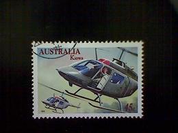 Australia, Scott #1484, Used (o), 1996, Military Aviation: Kiowa Helicopter, 45c, Multicolored - Used Stamps
