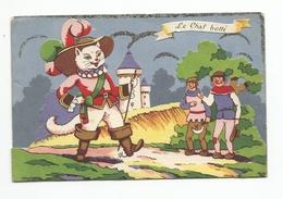 LE CHAT BOTTE Carte Dorée, Personnages En Relief Et Scène Qui Bouge - Fairy Tales, Popular Stories & Legends