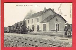 BEAUMONT DE LOMAGNE 1913 LA GARE CARTE EN TRES BON ETAT - Beaumont De Lomagne