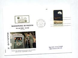 Lettre Flamme Cape Canaveral Retour  Apollo 11 - Covers & Documents