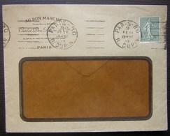 1918 Au Bon Marché Maison Aristide Boucicaut Paris - Postmark Collection (Covers)