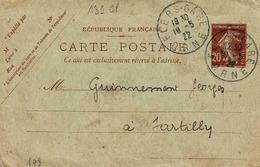 Carte 139 CP 1 , Date 148, 137 X 88 Mm De Flers Pour Sartilly, Au Verso , Convocation  De L'ingénieurVignon Pour Examen - Standaardpostkaarten En TSC (Voor 1995)