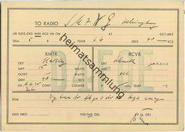 QSL - QTH - D4FOE - 1932 - Amateurfunk