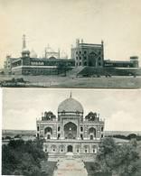 DELHI   2 Cpa  Jumma Musjid-Humayon Tomb - Inde