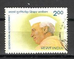INDIA, 1983, 7th NON-ALIGNED SUMMIT CONFERENCE, NEHRU, 1 V,   FINE USED - India