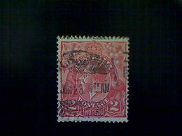 Australia, Scott #28, Used (o), 1922, King George V, 2d, Red - 1913-36 George V: Heads