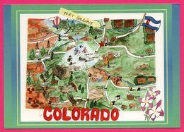 Carte Géographique - Colorado - Carte - Fort Collins - The Centennial State - SMITH SOUTHWESTERN - Etats-Unis