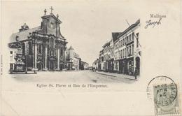 Malines - Eglise St. Pierre Et Rue De L'Empereur - Mechelen