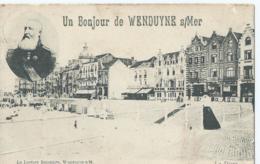 Wenduine - Un Bonjour De Wenduyne S/Mer - La Digue - La Lecture Balnéaire - M. Marcovici - 1906 - Wenduine