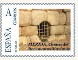 "Spain 2011– España ""Tu Sello"". Sello Personalizado De La Cloaca Romana Decumanus De Mérida - Arqueología"
